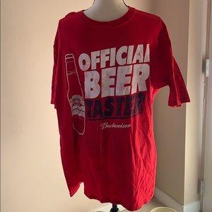 3/$10 Budweiser beer taster T-shirt